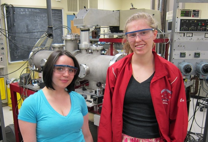 1-Cara and Caitlin in Lab 2015